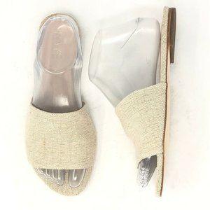 Raye Revolve Natural Textile Lemonade Slide Sandal